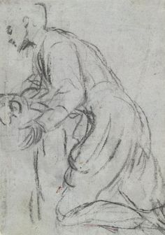 study for a monk or priest kneeling Vic Australia, 16th Century, Priest, Study, Drawings, Image, Ideas, Art, Art Background