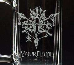 World of Warcraft Glass Troll Beer Mug Glassware by NexusGlass