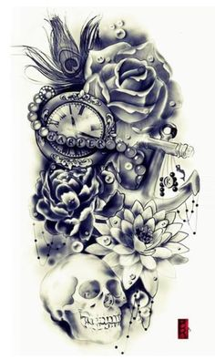 Instead of skull I want a compass or maybe a map.... But this would go at top of my arm ❤️