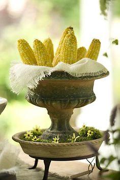 Entertaining, using urn as corn holder - Lifestyle Portfolio