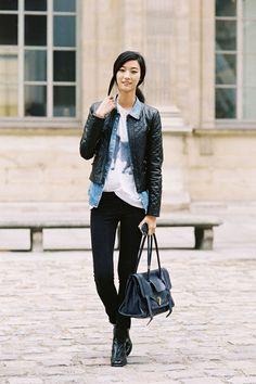 South Korean model Ji Hye Park (Elite), after Louis Vuitton, Paris, October 2012.