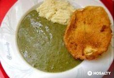 Sóska tört bugonyával, bundás zsemlével Love Eat, Palak Paneer, Bacon, Veggies, Vegetarian, Vegan, Cooking, Healthy, Ethnic Recipes