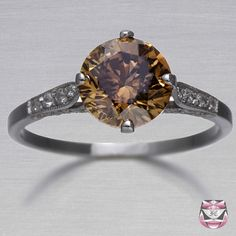 Fancy Brown Diamond Engagement Ring, I didn't even know there were brown diamonds, how cool.