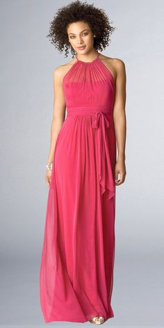 Halter Neck Bridesmaids Dresses from After Six by Dessy Group