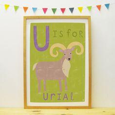 Urial poster/print | Paper Penknife