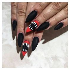 Top 10 Halloween Nail Art Ideas | Makeup Tutorials ❤ liked on Polyvore featuring beauty products, nail care and nail treatments