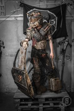 Lukasz Sieron Photo Post Apocalyptic Clothing, Post Apocalyptic Costume, Apocalyptic Fashion, Mad Max, Fallout, Apocalypse Character, Wasteland Warrior, Dystopia Rising, Link Cosplay