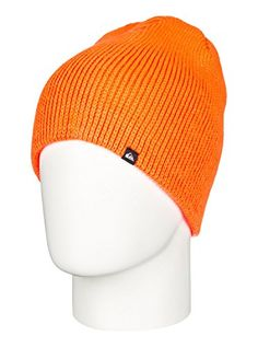 Quiksilver Boys Routine  Beanie Beanie Orange One Size ** Click on the image for additional details.(This is an Amazon affiliate link and I receive a commission for the sales)