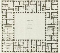 Plan of the ground level of the Grand Commun, 1756.