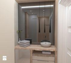 Aranżacje wnętrz - Łazienka: Łazienka minimalistyczna falująca w drewnie - inter-design. Przeglądaj, dodawaj i zapisuj najlepsze zdjęcia, pomysły i inspiracje designerskie. W bazie mamy już prawie milion fotografii!