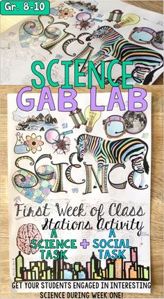 These 8 Science Gab Lab stations will elicit conversation about science content and are meant for grades and for early in the school year, semester, or term when your students are first learning each others' names and getting to know one another! 7th Grade Science, Middle School Science, Elementary Science, Science Classroom, Teaching Science, Science Education, Science Activities, Life Science, Science Topics