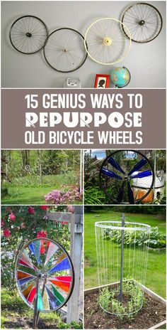 If you don't know what to do with the old bike wheels, here You can find some very interesting ideas.