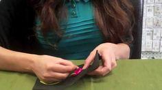 Sew a cross stitch button