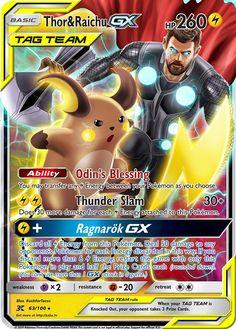 & Raichu GX Custom Pokemon Card Thor & Raichu GX Custom Pokemon CardCustom Custom may refer to: All Pokemon Cards, Pokemon Cards Legendary, Pokemon Memes, My Pokemon, Pokemon Fusion, Japanese Pokemon Cards, Pikachu, Cool Cards, Pokémon Cards