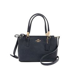 Coach Christie Crossgrain Leather Handbag IM/Midnight F34672