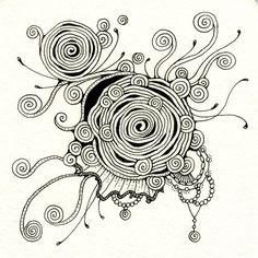 """""""Diva Dance"""" • ❃ • ❋ • ❁ • tanglebucket • ✿ • ✽ • ❀ •: January 2013  ~ #Zentangle #CertifiedZentangleTeacher #CZT"""
