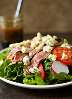 Summer Steak Salad and Shrimp Flatbread with Kerrygold Cheeses and Butter via @Angie McGowan (Eclectic Recipes)