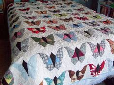 Vintage Quilt Patterns | Vintage Butterfly Quilt by PamelaQuilter | Quilting Ideas