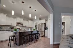 We love the layout of the kitchen in the Gabriel model. The pantry comes straight from the garage into the kitchen and the design is so efficient! Kitchen Models, New Shows, Model Homes, Gabriel, Pantry, Garage, Floor Plans, Layout, Bedroom