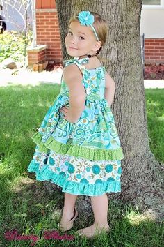 Create Kids Couture - Riley's Redesigned Knot Dress PDF Pattern, $8.00 (http://www.createkidscouture.com/rileys_girls.html)