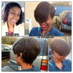 Do you think she made a good choice than before? : Do you think she made a good choice than before? New style: http://www.fairywigs.com/100-Human-Hair-Brown-Short-Straight-Capless-Wigs-8-Inch-131011.html | fairywigs