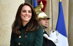 What scandal? Kate brushed her husband's Alpine antics aside as she put on a dazzling display in Paris on Friday. Despite jetting in from London she showed no signs of fatigue with her perfectly coiffed hair looking as immaculate as ever