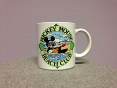 Mickey Mouse Beach Club mug by Applause (made in Japan 1986)