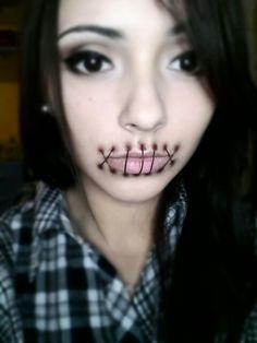 sew mouth make-up