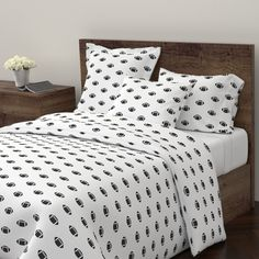 Wyandotte Duvet Cover featuring  Football 2 Mod MEDIUM   - Onyx by drapestudio | Roostery Home Decor