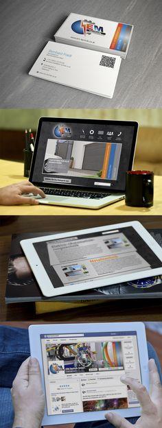 Auftragsarbeit für EM-Technik Visitenkartengestaltung, Webdesign, Facebook Fanpage http://www.em-technik.co.at