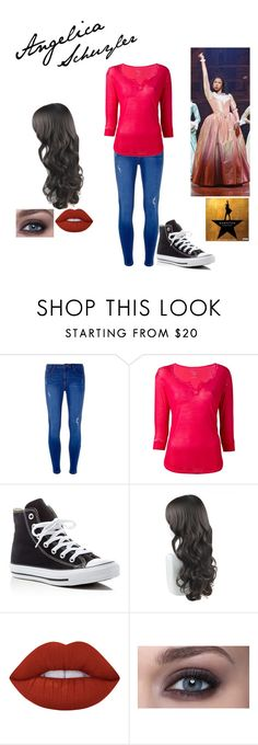 """""""Untitled #84"""" by wndt on Polyvore featuring Dorothy Perkins, Majestic Filatures, Converse and Lime Crime"""