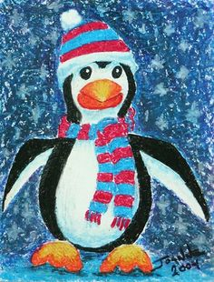 "grade 5 penguin art lesson | Chilly Penguin"" Grades K - 7"