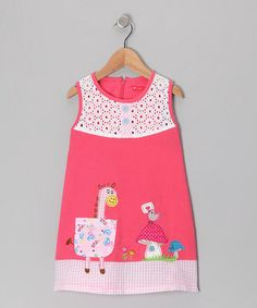 Take a look at this Rose Horsey Dress - Infant, Toddler & Girls by Maggie Peggy on #zulily today!
