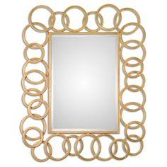 Uttermost Amena Gold Rings Mirror