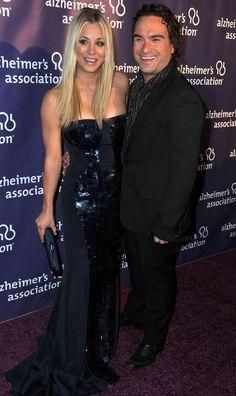 Kaley Cuoco and Johnny Galecki join Big Bang Theory Castmates at Sardi