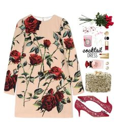 """Untitled #406"" by pinkandgoldsparkles ❤ liked on Polyvore featuring Dolce&Gabbana, Yvonne Léon, Diptyque, Hanky Panky and Stila"
