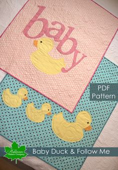 PDF Baby Quilt Patterns  2 for 1  two fun and by RobinsonPatternCo, $11.95