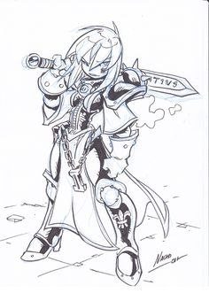 Sister Sketch by NachoMon.deviantart.com on @DeviantArt