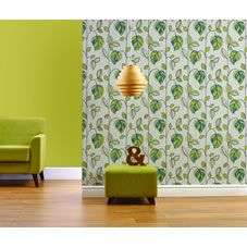 Wilko Leaf Green And Teal Wallpaper alternative image