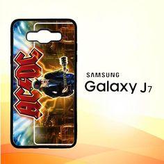 acdc logo wallpaper Y1485 Samsung Galaxy J7 Edition 2016 SM-J710 Case