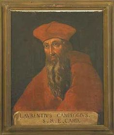 Lorenzo Campeggio (1474–1539) was an Italian cardinal and politician. He was the last cardinal protector of England. Created cardinal by Pope Leo X on July 1, 1517