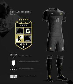 Diseño jersey y logo equipo de Batman