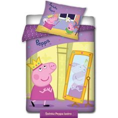 Peppa Pig princess kids bedding set with Peppa as a Princess   Pościel Świnka Peppa Księżniczka #peppa_pig #kids_bedding #kids_bedroom