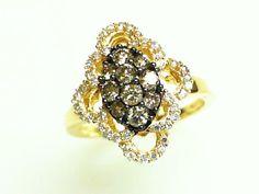 Le Vian Vanilla and Chocolate Diamond Ring Yellow Gold
