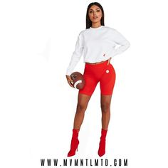 Ft. Nicky Kay ImSoFierce Sweatshirt in White and Red Seamless #BikeShorts ➖➖➖➖➖➖➖➖➖➖➖ SHOP NOW! (Link in bio) ✌🏾jointhemovement 🌏Same Day + Worldwide Shipping 💸AfterPay + ZipPay 📸Tag us #mvmntlmtd 🌐w w w . m v m n t l m t d . c o m