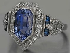 Fay Cullen Art Deco Sapphire Engagement Ring, $6,500