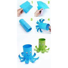 De här söta bläckfiskarna hittade vi på minieco.co.uk. Just de här är gjorda av…