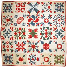 Behind the Scenes Tours: Album top circa 1860, quilting 1861, posted by Beth Donaldson