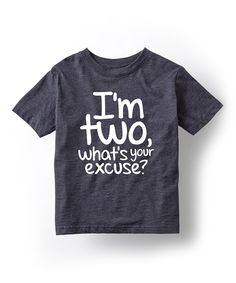 Another great find on #zulily! Heather Blue 'I'm Two' Tee - Toddler & Kids by KidTeeZ #zulilyfinds