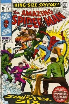 Amazing Spider-Man Annual #6. The Sinister Six. The first super-hero comic I ever read. #Spider-Man #SinisterSix